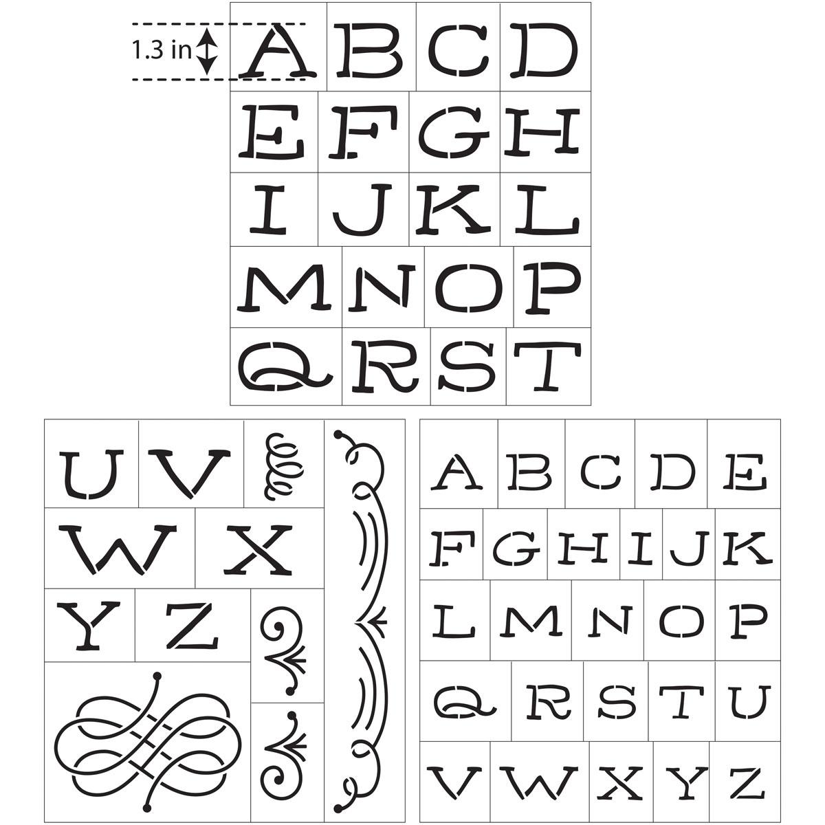 Hallmark Handcrafted Adhesive Stencils - So Happy Font, 8-1/2