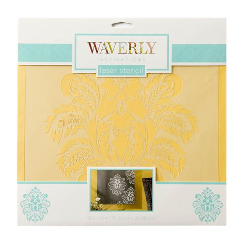 "Waverly ® Inspirations Laser Stencils - Décor - Damask, 12"" x 12"" - 60513E"