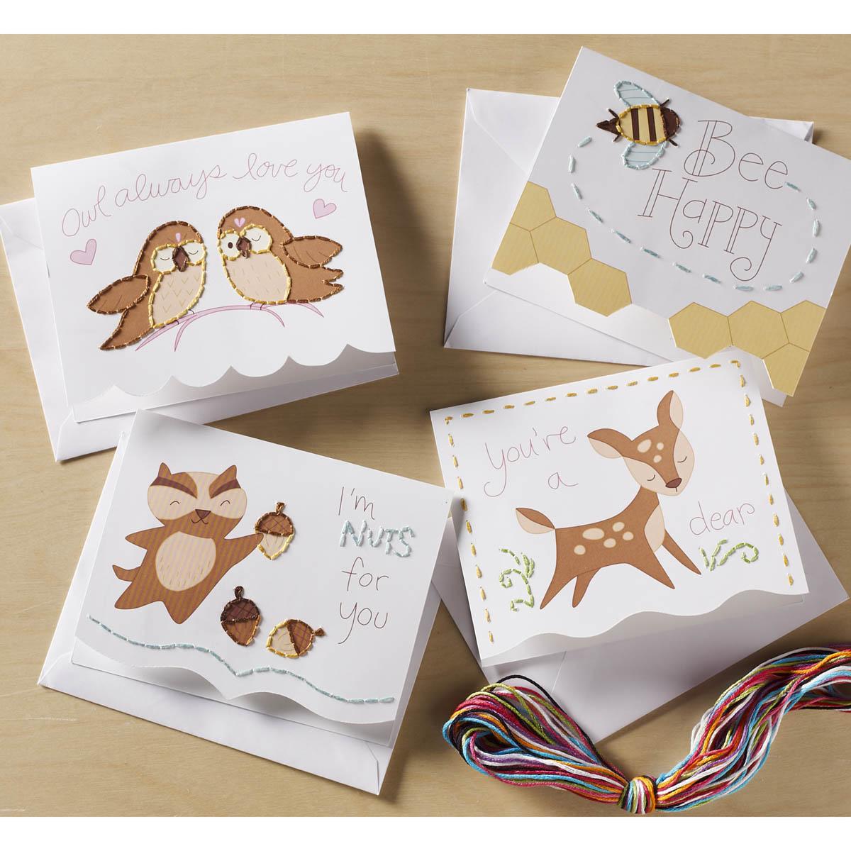 Bucilla ® Paper Stitching - Note Cards - Nature