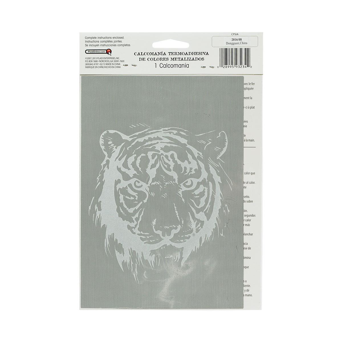 top.og.raphy™ Iron-ons - Metallic Foil - Tiger