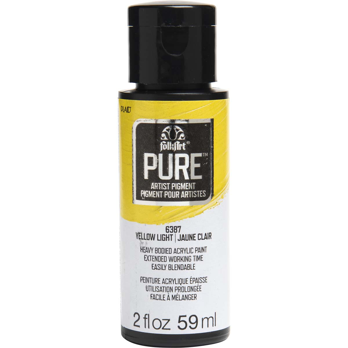 FolkArt ® Pure™ Artist Pigment - Yellow Light, 2 oz. - 6387