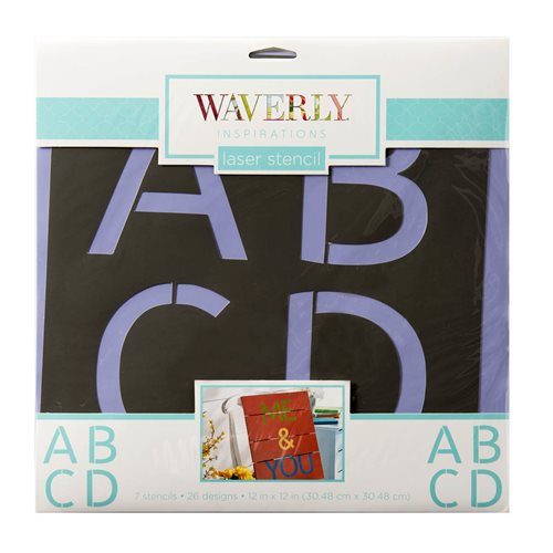 "Waverly ® Inspirations Stencils - Decor - Alpha Basic, 12"" x 12"" - 60517E"