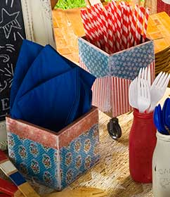 4th of July Tablescape Utensil Holders