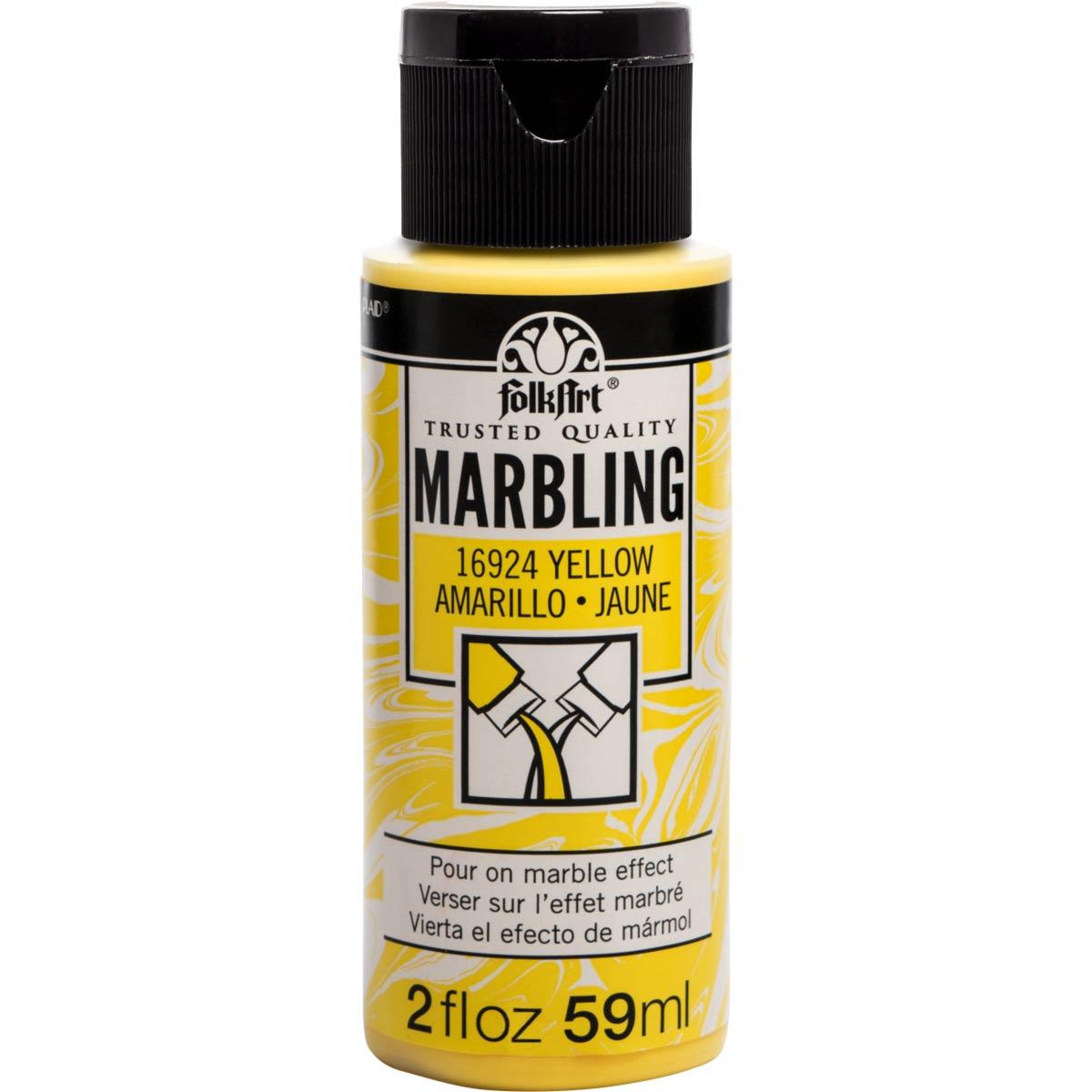 FolkArt ® Marbling Paint - Yellow, 2 oz.