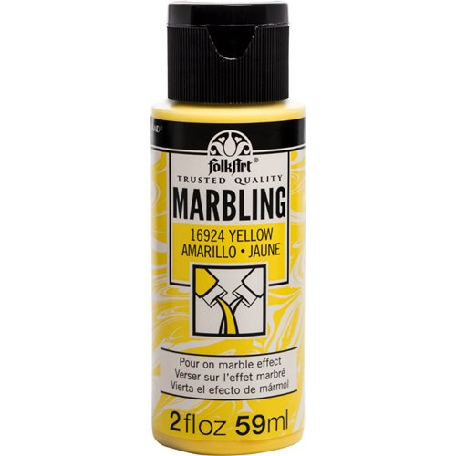 FolkArt ® Marbling Paint - Yellow, 2 oz.