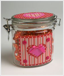 Decoupaged Valentine Jar