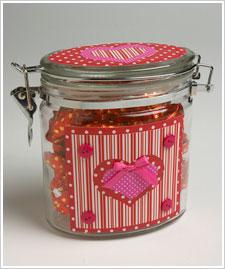Decoupaged Valentine Jar