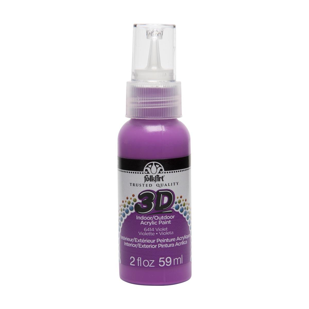 FolkArt ® 3D™ Acrylic Paint - Violet, 2 oz.
