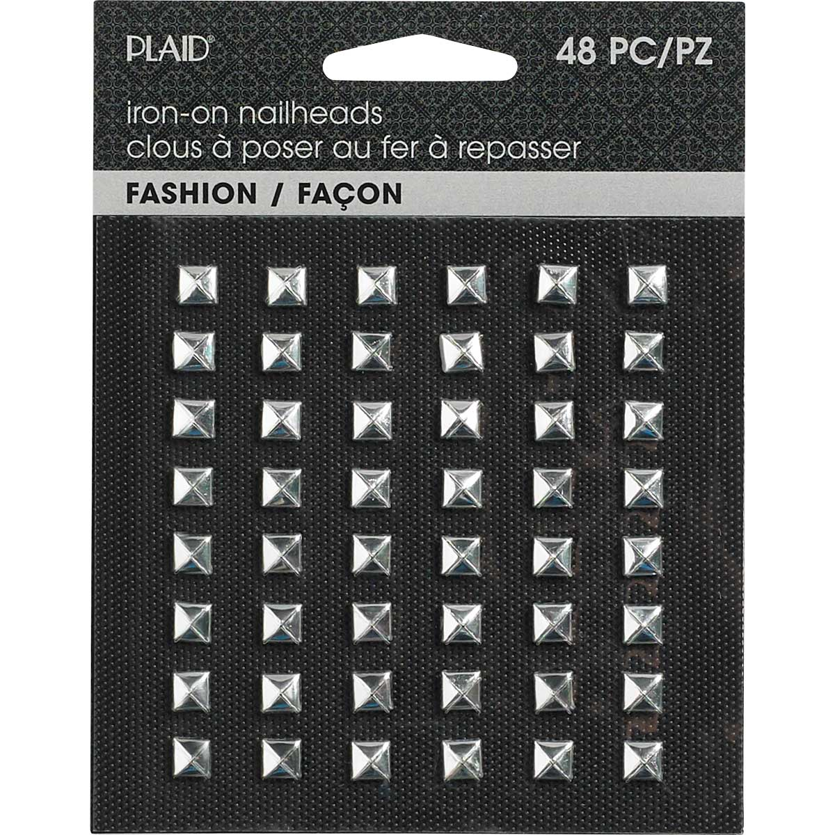 Plaid ® Hot Fix Nailhead Iron-Ons - Pyramid Shiny Silver