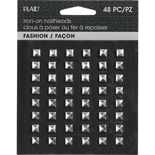 Plaid ® Hot Fix Nailhead Iron-Ons - Pyramid Shiny Silver - 71031