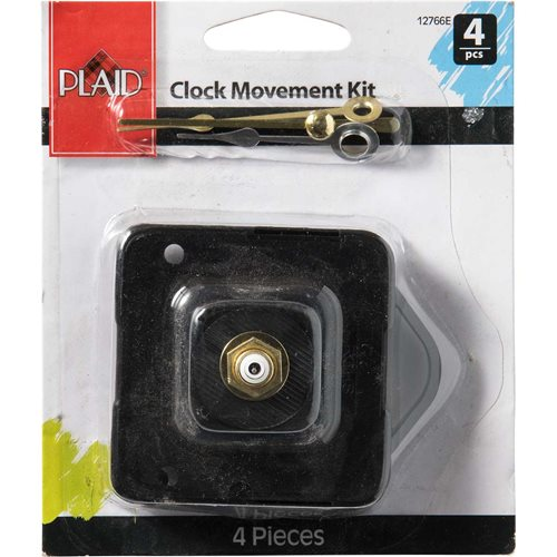 Plaid ® Wood Surfaces - Accessories - Clock Movement Kit, 4 pieces