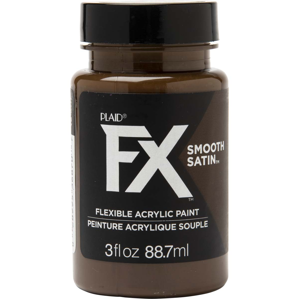 PlaidFX Smooth Satin Flexible Acrylic Paint - Charred Root, 3 oz. - 36870