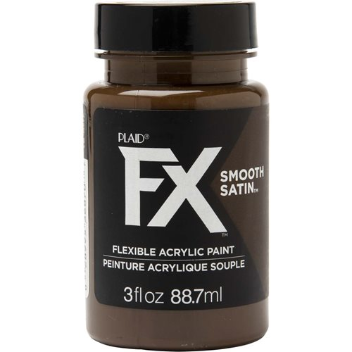 PlaidFX Smooth Satin Flexible Acrylic Paint - Charred Root, 3 oz.