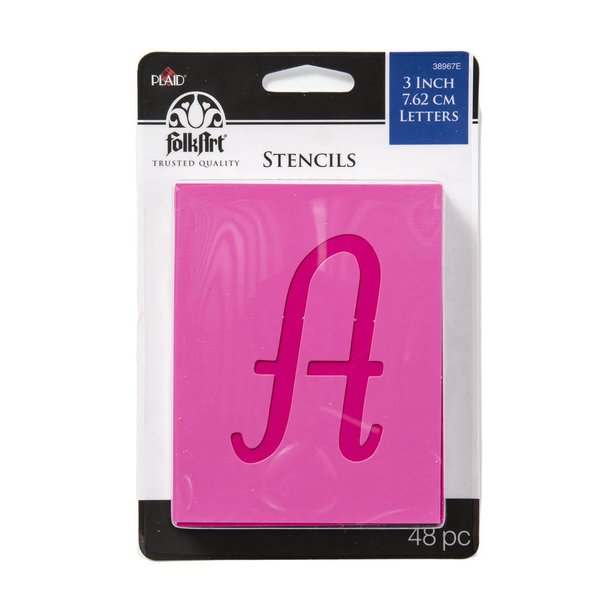 FolkArt ® Stencil Value Packs - Letter Stencils - Script