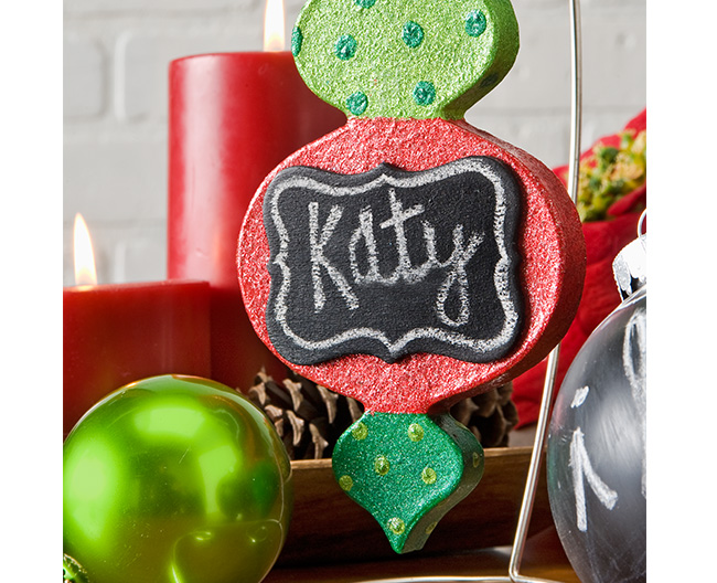 Glitter and Chalk Ornament