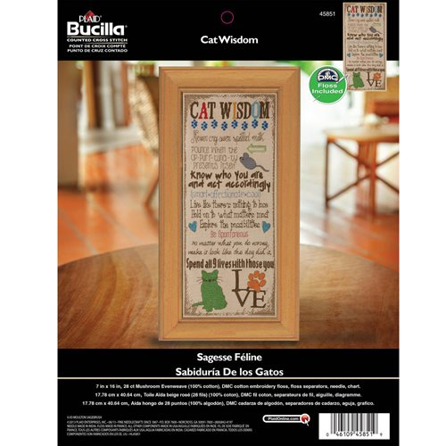 Bucilla ® Counted Cross Stitch - Picture Kits - Cat Wisdom