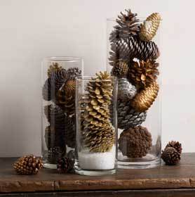 Pinecone Holiday Table Decoration
