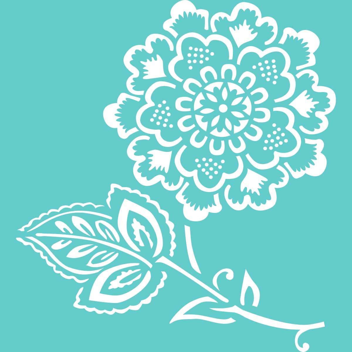 Waverly ® Laser Stencils - Cherry Floral, 5.5