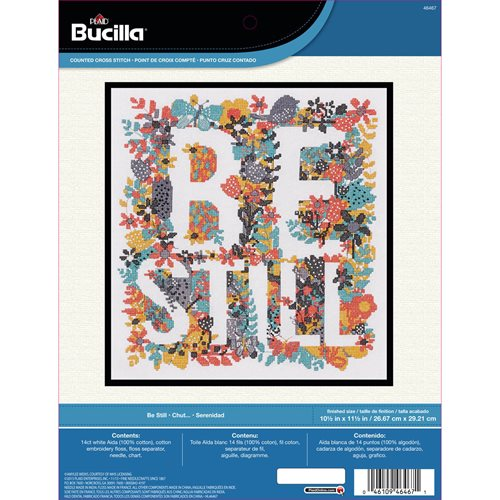 Bucilla ® Counted Cross Stitch - Picture Kits - Be Still