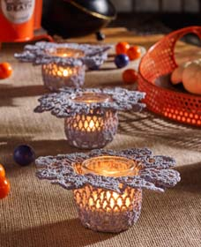 DIY Doily Candle Holders