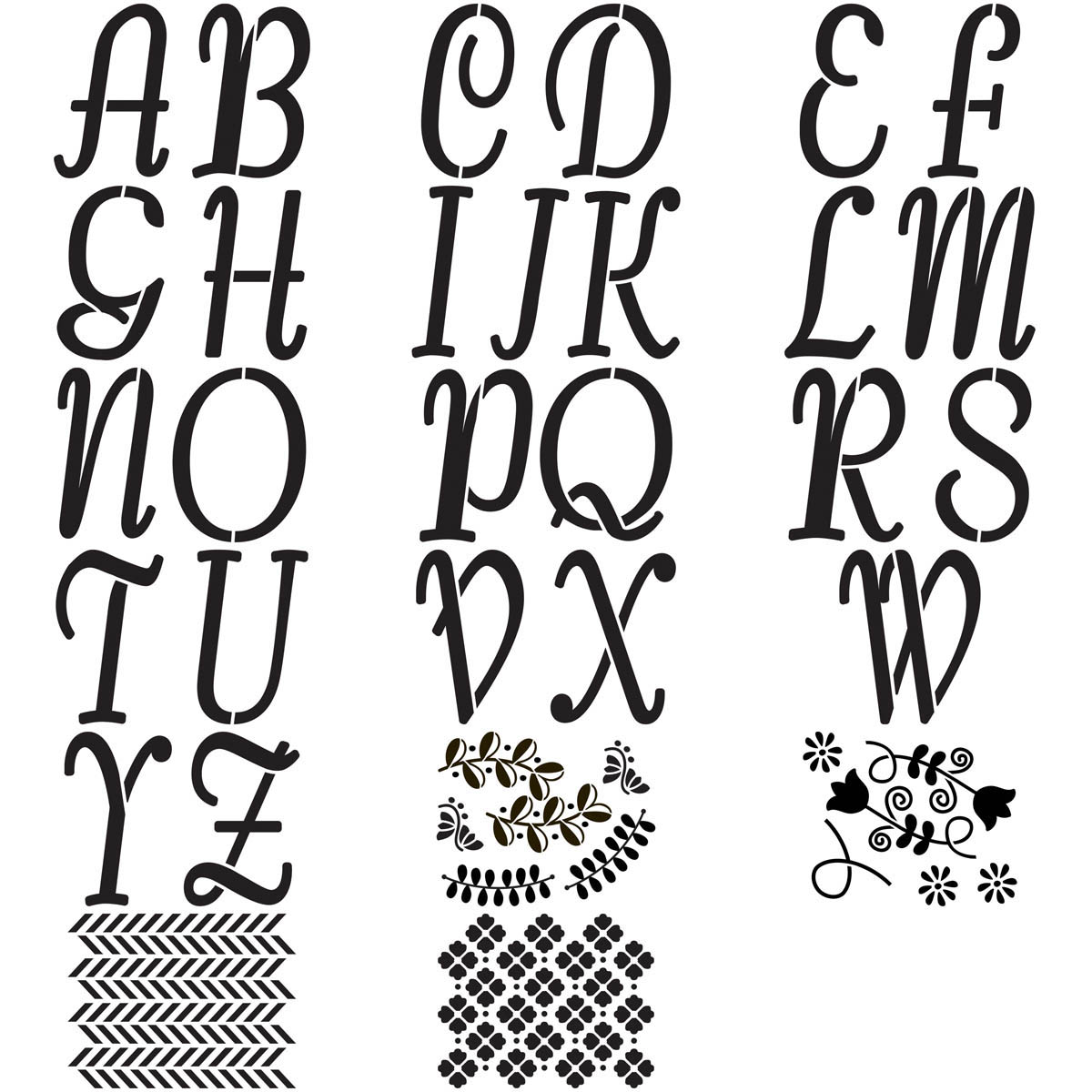 FolkArt ® Alphabet & Monogram Paper Stencils - Italic Font, 5