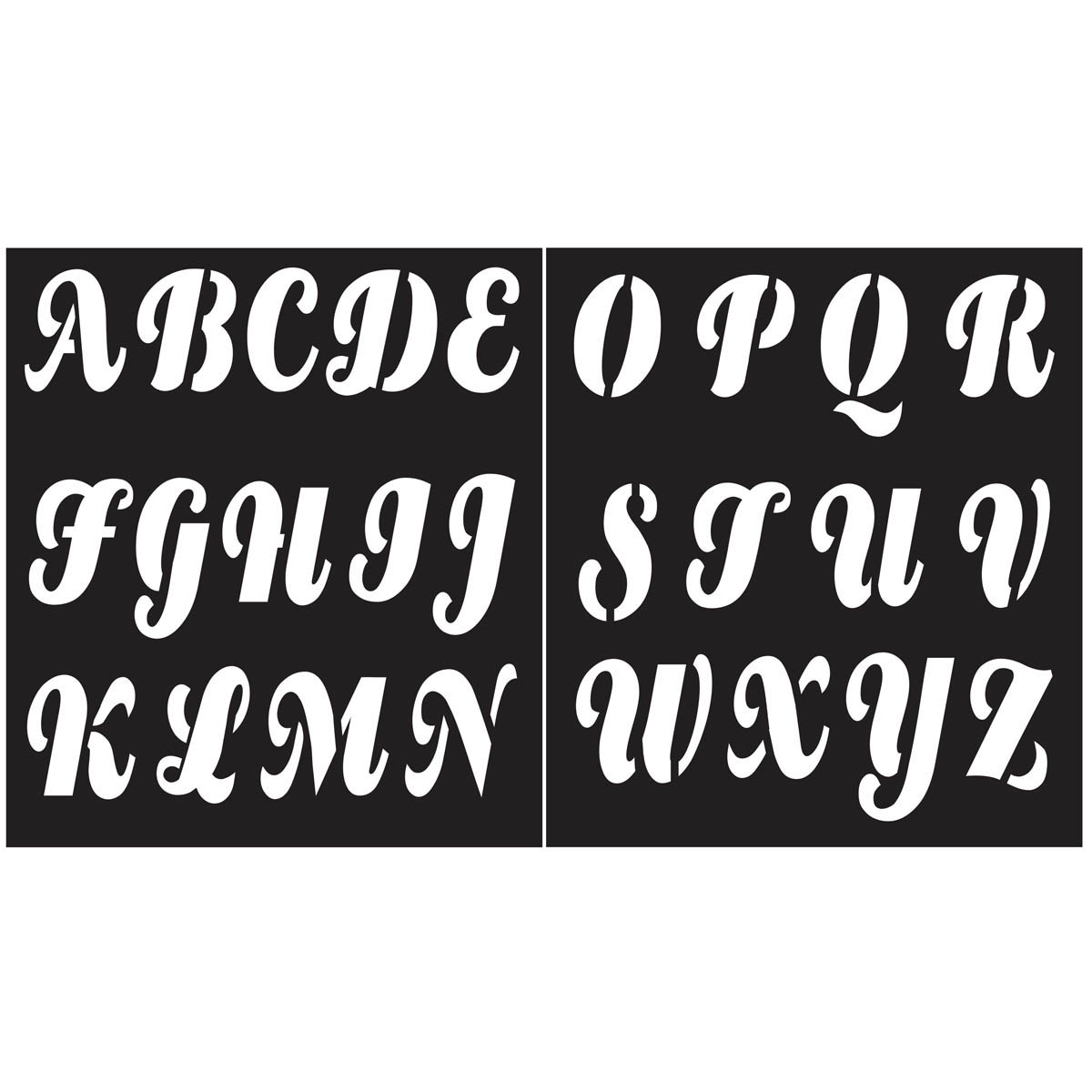 FolkArt ® Painting Stencils - Alphabet Beverly