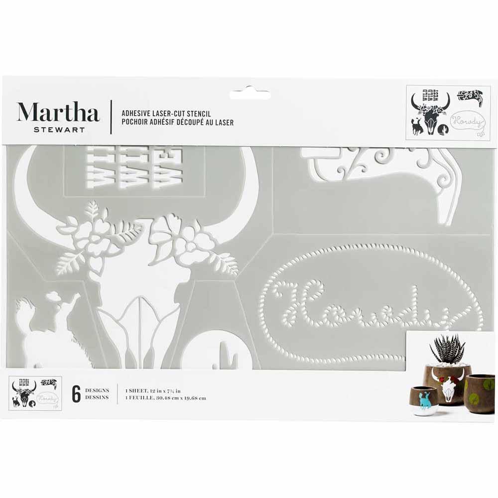 Martha Stewart ® Adhesive Stencil - Western