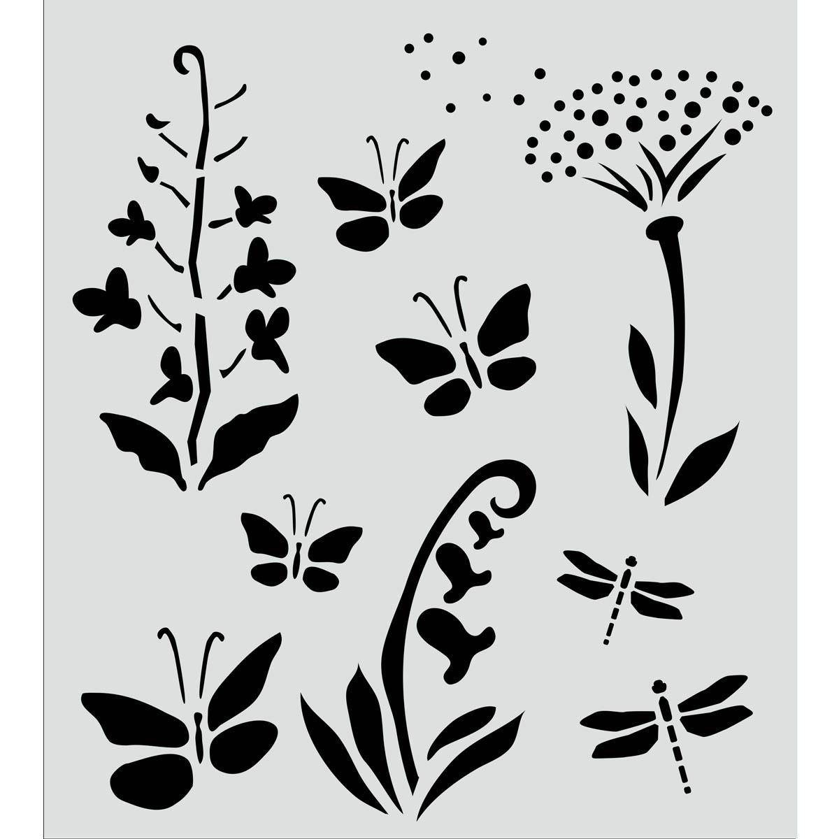 FolkArt ® Painting Stencils - Wildflowers & Butterflies