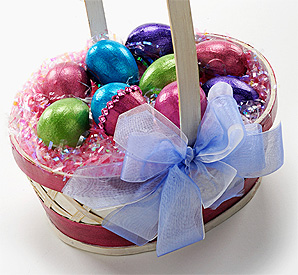 Extreme Glitter Eggs and Basket