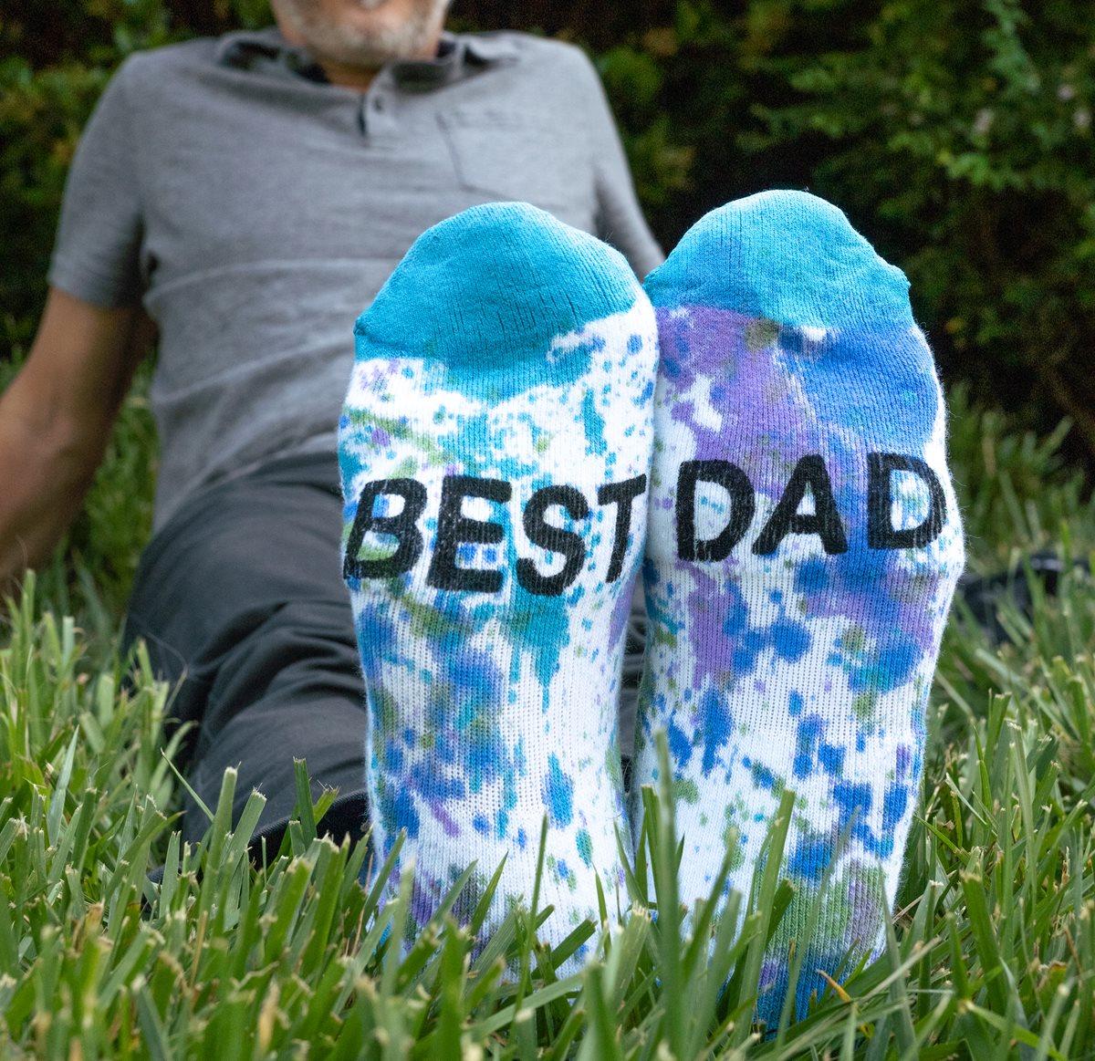 Father's Day - Best Dad Splatter Socks