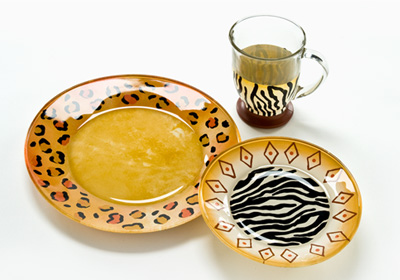 Jungle Safari Glass Tableware