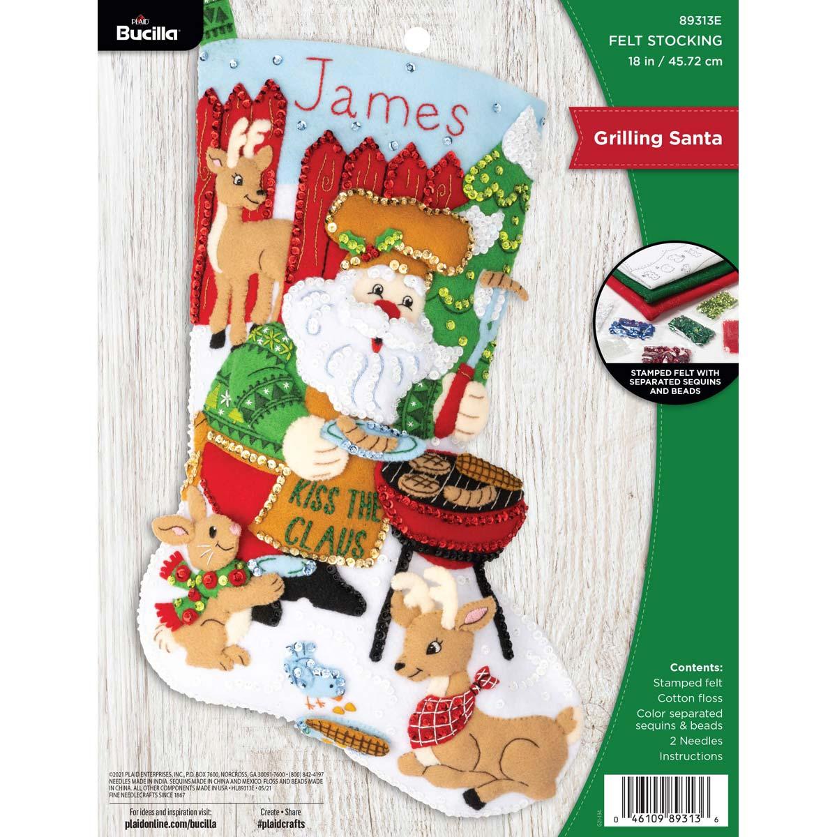 Bucilla ® Seasonal - Felt - Stocking Kits - Grilling Santa - 89313E