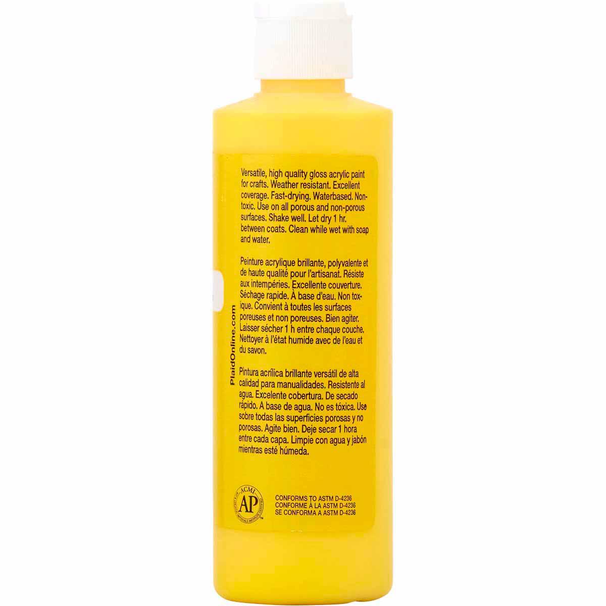 Apple Barrel ® Gloss™ - Real Yellow, 8 oz. - j20414