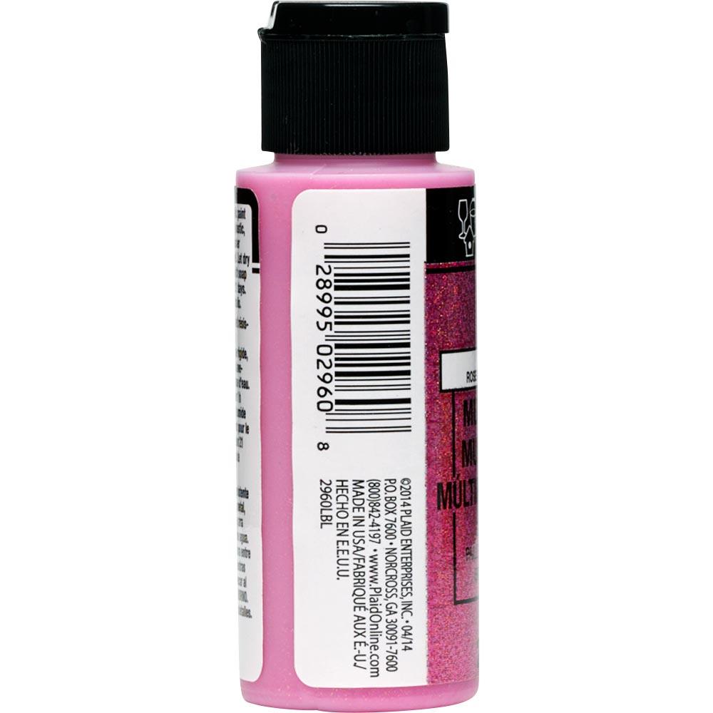 FolkArt ® Multi-Surface Glitter Acrylic Paints - Paradise Pink, 2 oz. - 2960