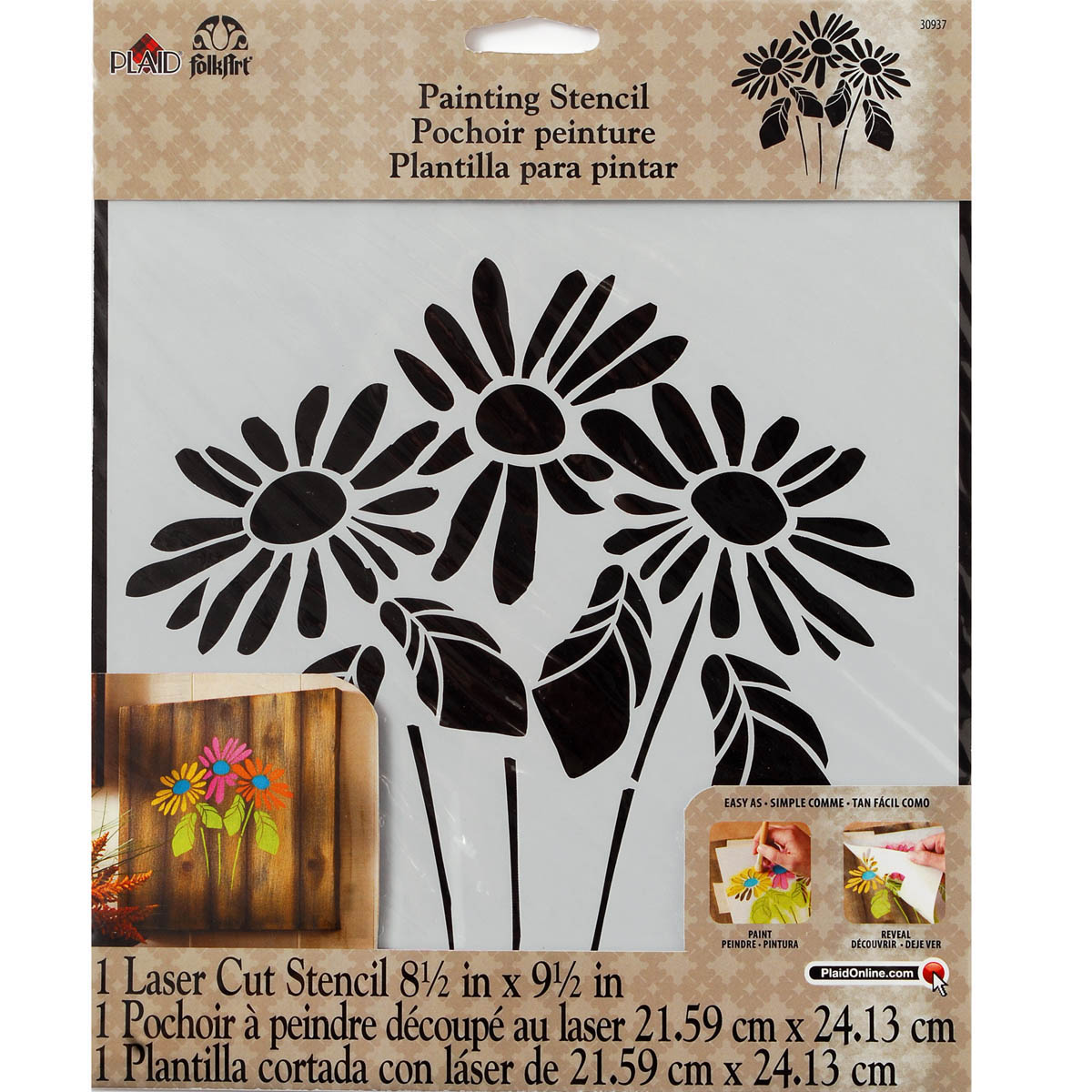 FolkArt ® Painting Stencils - Large - Lazy Daisy