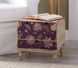 Marsala Fabric Drawer Storage Chest