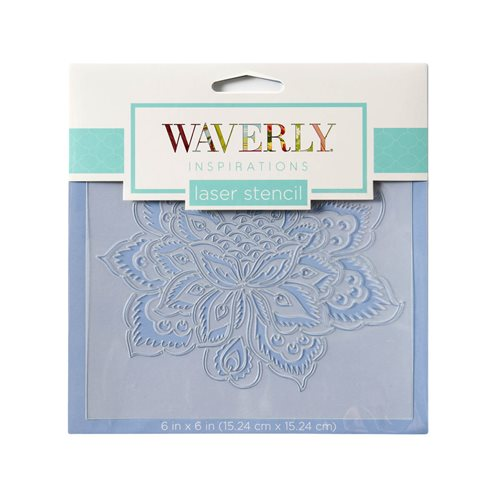 "Waverly ® Inspirations Laser Stencils - Accent - Floral Ornate, 6"" x 6"" - 60531E"