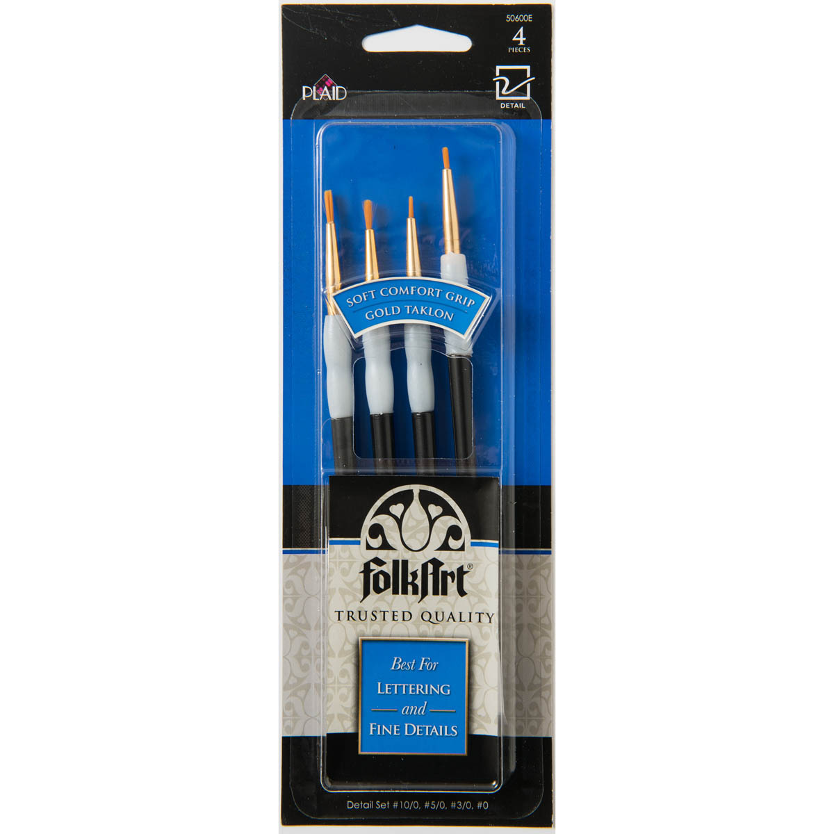 FolkArt ® Brush Sets - Soft Grip - Detail Brush Set - 50600E