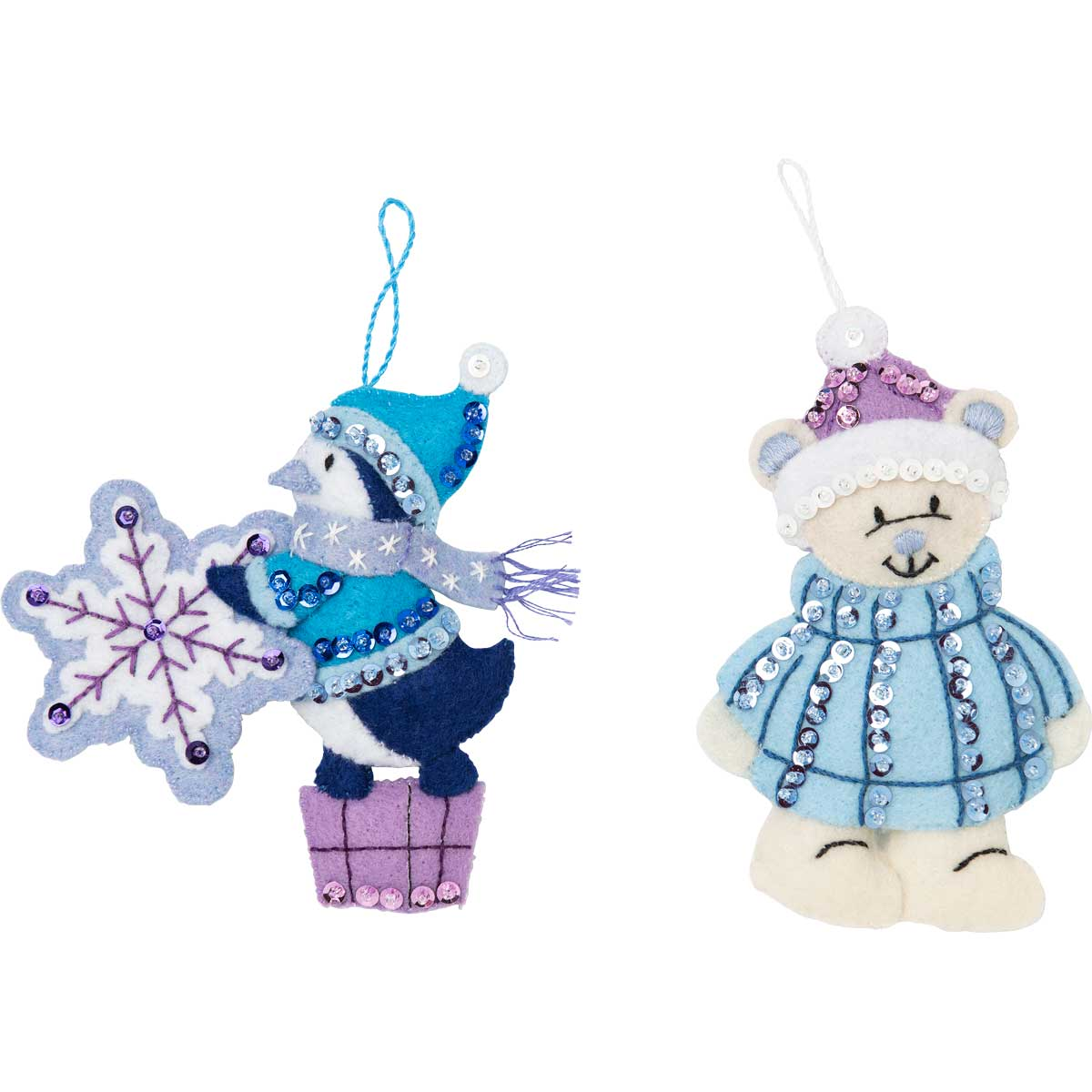Bucilla ® Seasonal - Felt - Tree Trimmer Kits - Hallmark - Wintry Wonderland