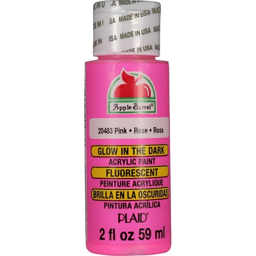Apple Barrel ® - Glow-In-The-Dark Pink, 2 oz. - 20483
