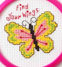 Bucilla ® My 1st Stitch™ - Counted Cross Stitch Kits - Mini - Find Your Wings