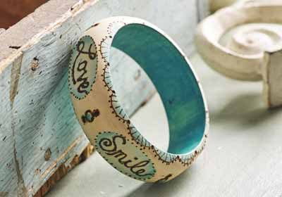 Creative Words Wood Bangle