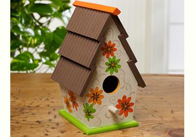 Daisy Shingled Bird House