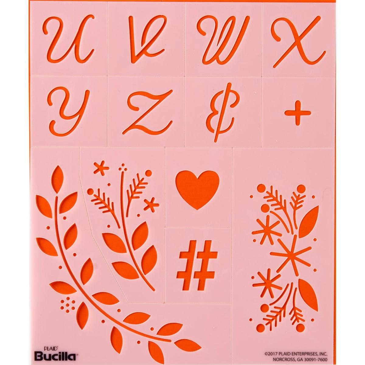 Bucilla ® Lettering and Monogramming Template Kit - Alphabet Script - 49066E