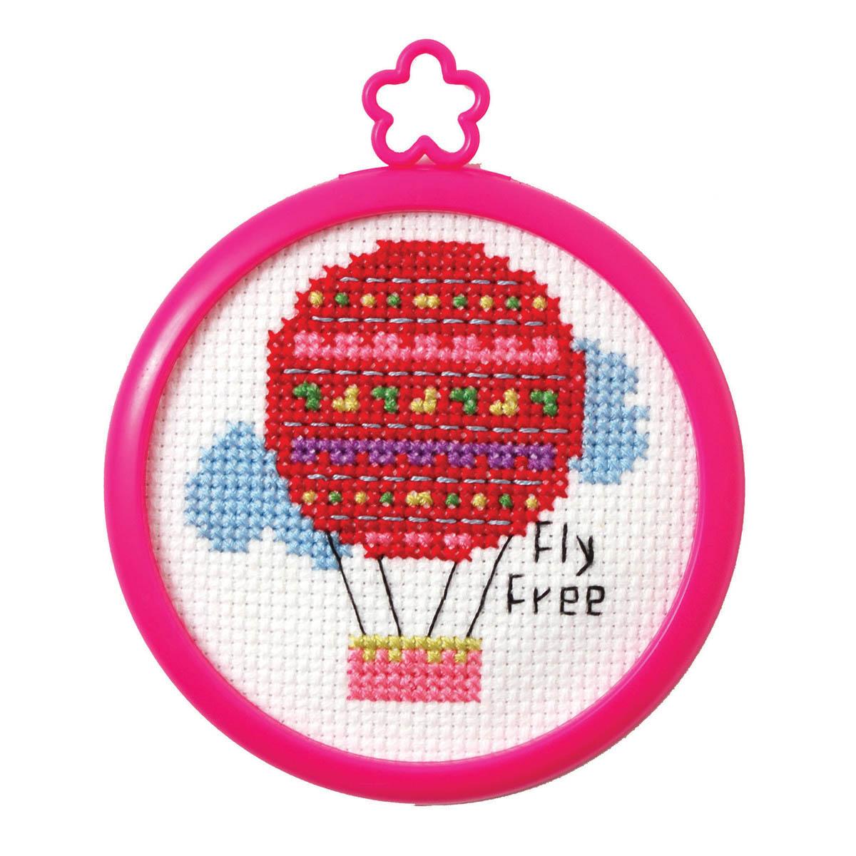 Bucilla ® My 1st Stitch™ - Counted Cross Stitch Kits - Mini - Fly Free - 45760