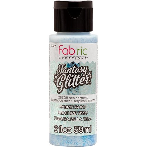 Fabric Creations™ Fantasy Glitter™ Fabric Paint - Sea Serpent, 2 oz.