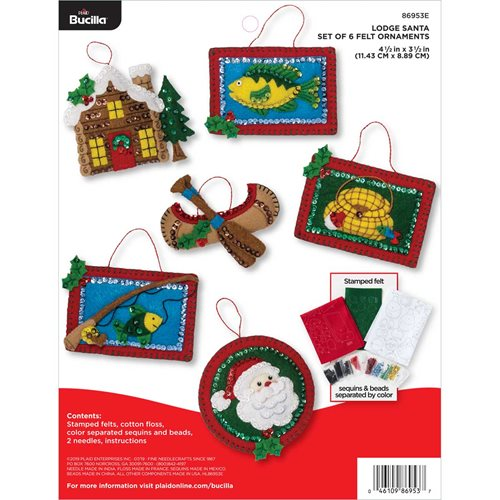 Bucilla ® Seasonal - Felt - Ornament Kits - Lodge Santa
