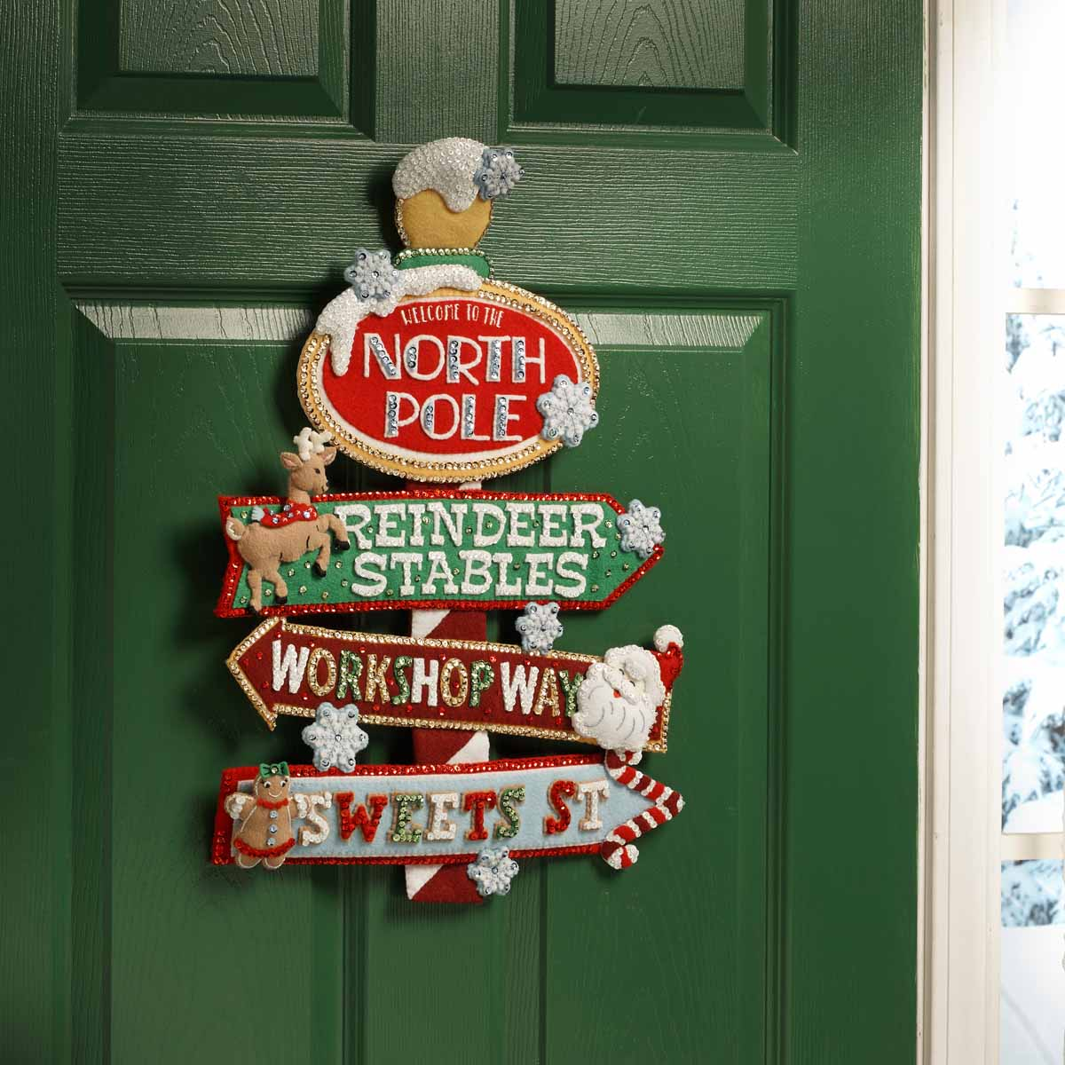 Bucilla ® Seasonal - Felt - Home Decor - Christmas Street Sign Wall Hanging - 89267E