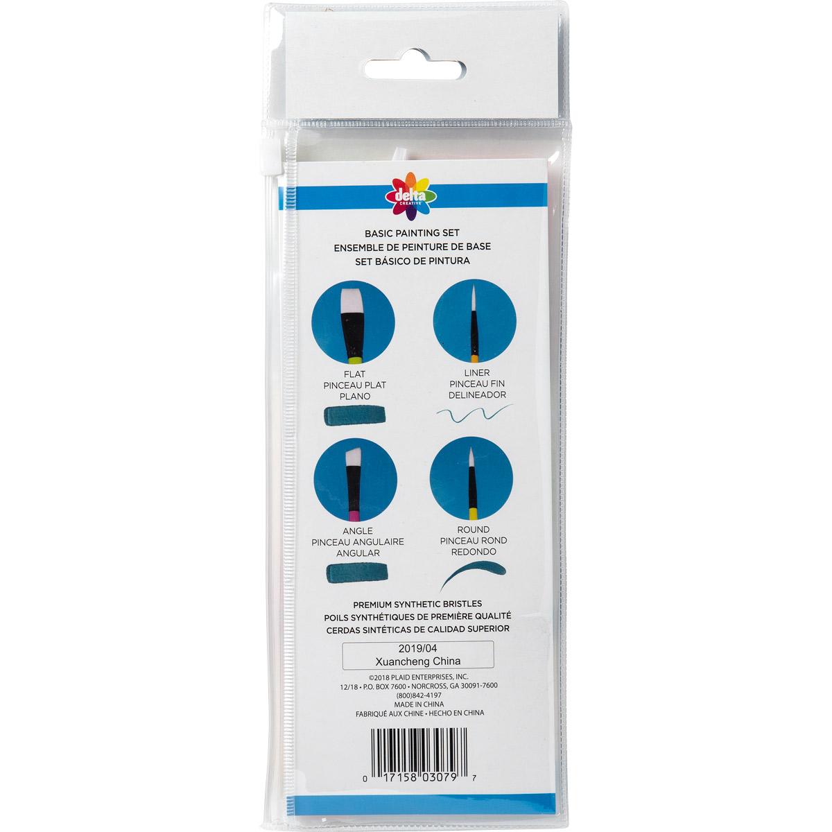 Delta Ceramcoat ® Brush Sets - Basic Painting Set, 10 pc.