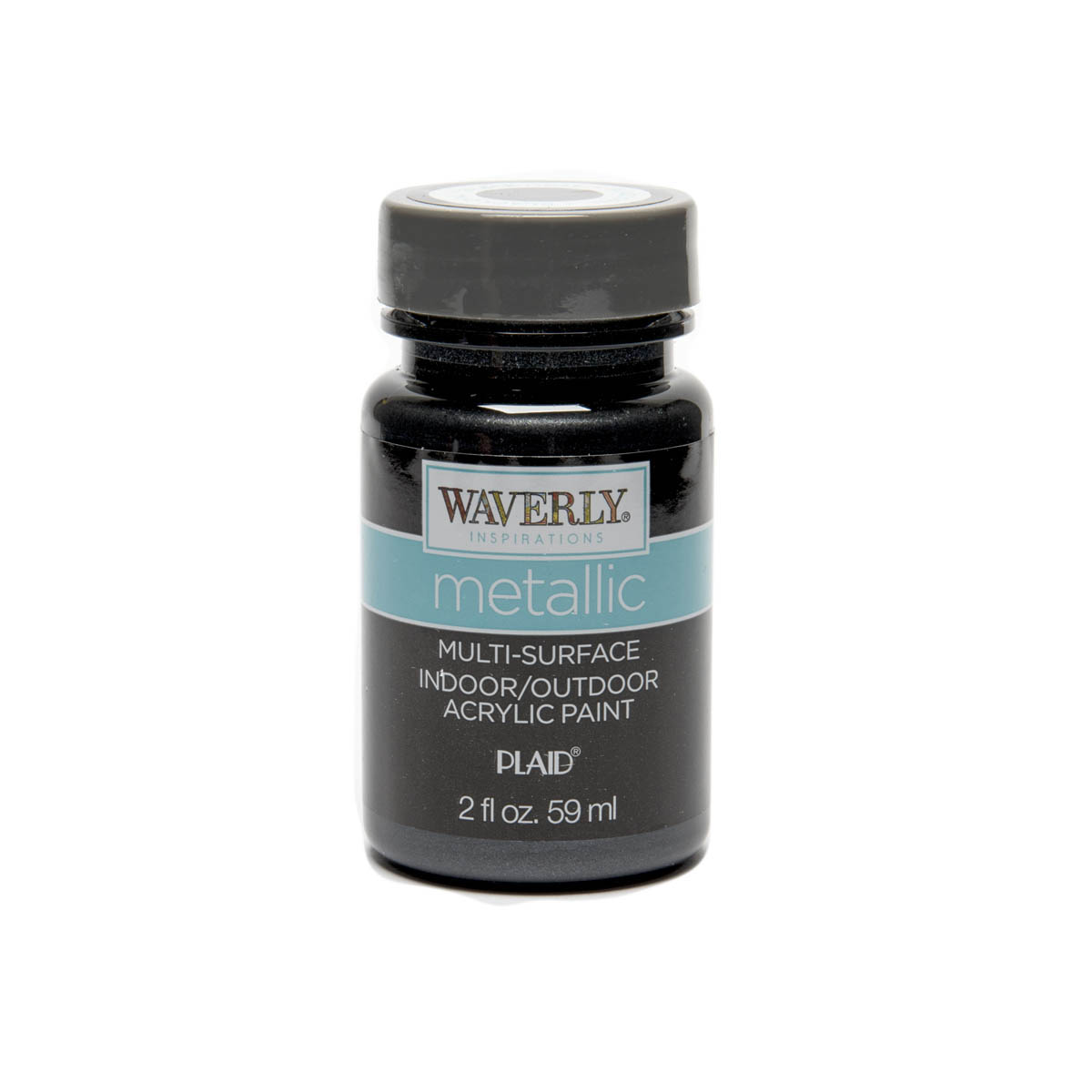 Waverly ® Inspirations Metallic Multi-Surface Acrylic Paint - Black Opal, 2 oz.